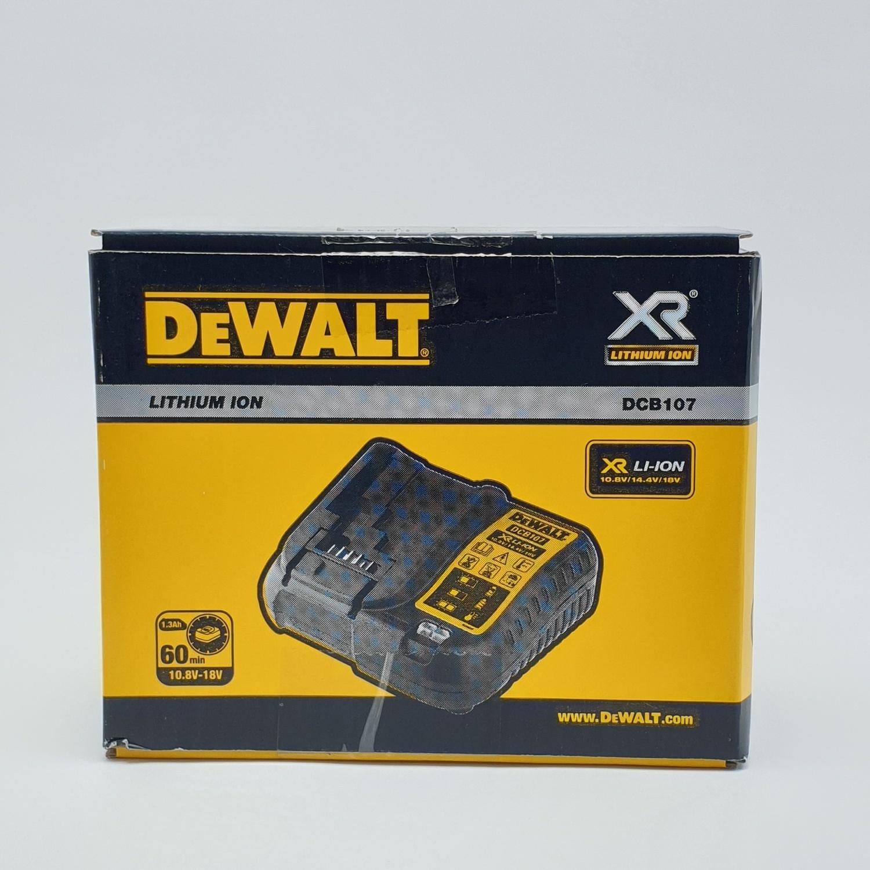 DeWALT แท่นชาร์จแบตเตอรี่ DCB107-B1 สีเหลือง