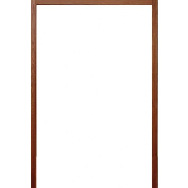 BEST วงกบประตูไม้เนื้อแข็งพร้อมรางเลื่อน  ขนาด 180x220 cm.(ทำสี)