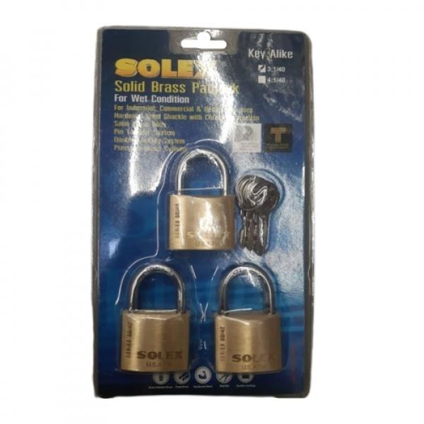 SOLEX กุญแจสายยูKAL   ขนาด 40MM.3:1SL99