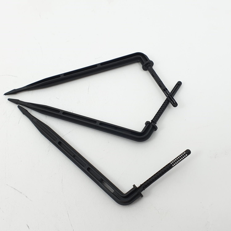Tree O ขาปักน้ำหยดกระถางแบบงอ  3x5มม.(50ชิ้น/แพ็ค) สีดำ