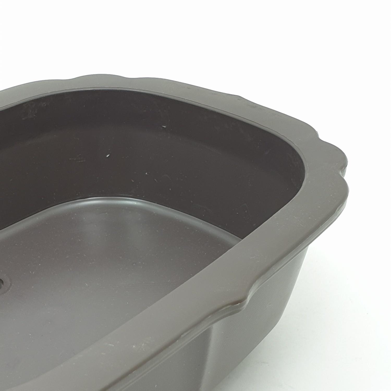 GREENHOUSE กระถางบอนไซ 7 นิ้ว สีเทาดำ - สีเทา