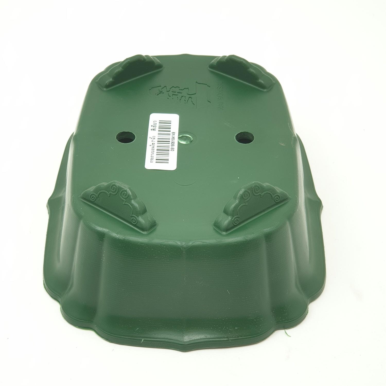 GREENHOUSE กระถางบอนไซ 7 นิ้ว สีเขียวเข้ม -