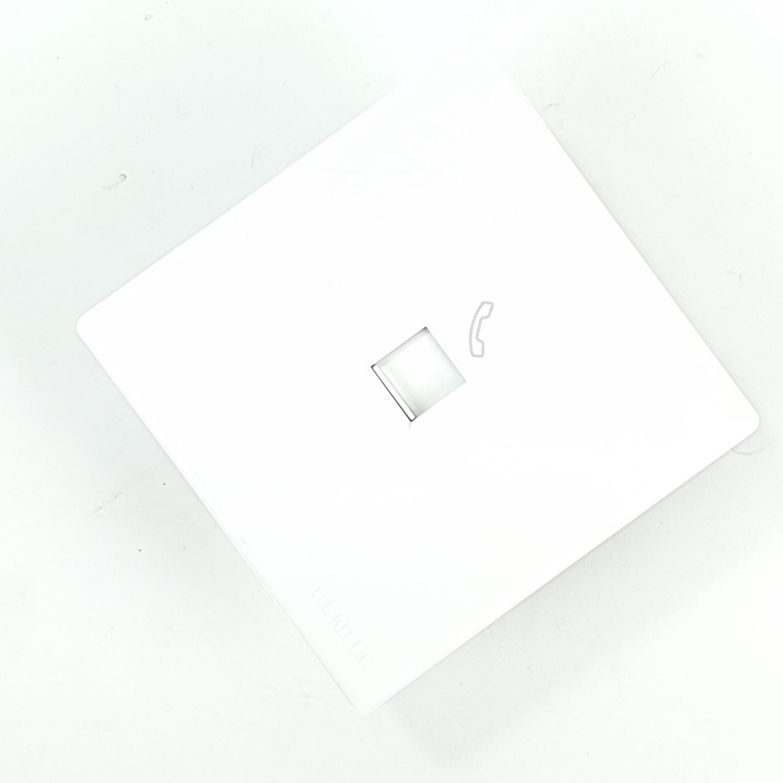 Gentec เต้ารับโทรศัพท์ 86W-11 สีขาว ขาว