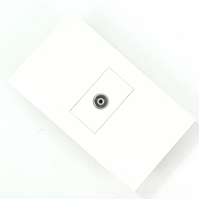 Gentec เต้ารับโทรทัศน์ 1 ช่อง 120W-17  สีขาว