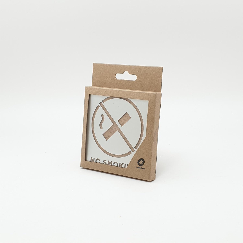 C Signage ป้ายอลูมิเนียม ประกบไม้  (No Smokingขนาด9x9cm.) CSWSS-003