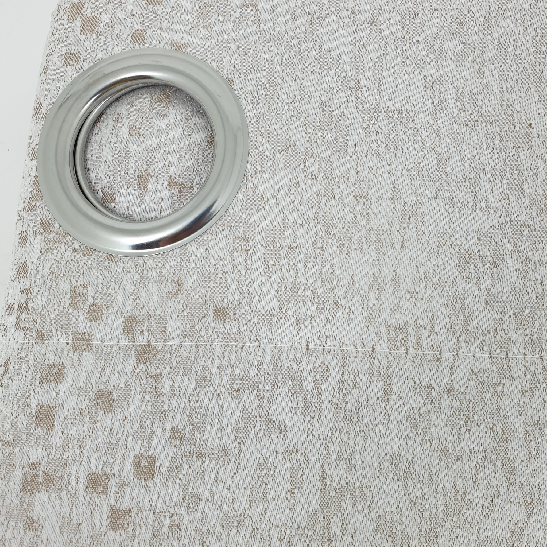 Davinci ผ้าม่านหน้าต่างพิมพ์ลาย ขนาด 140x160ซม.  A71414RR #1WD สีเบจ