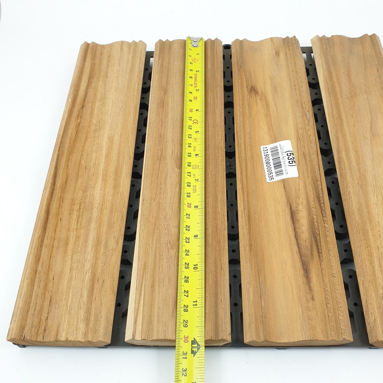 - แผ่นไม้สักปูพื้นสำเร็จรูป ขนาด 30x30ซม. SJK008