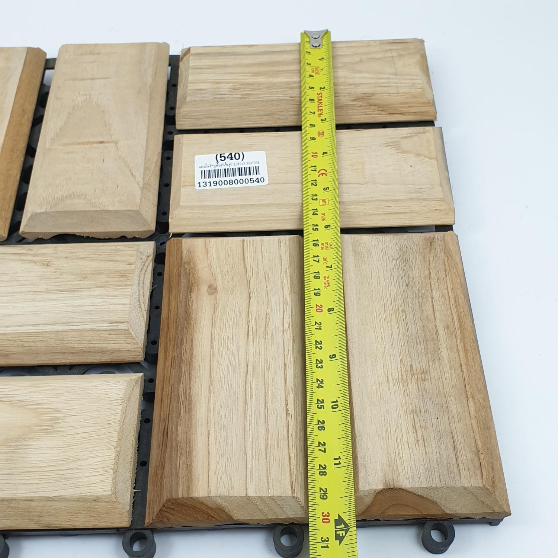 - แผ่นไม้สักปูพื้นสำเร็จรูป  ขนาด 30x30ซม. SJK003