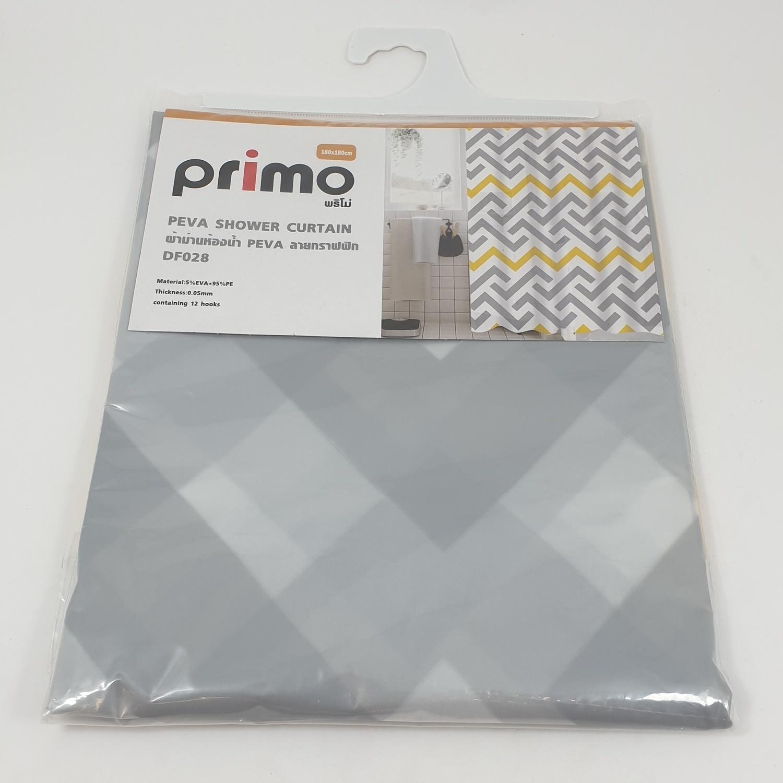 PRIMO ผ้าม่านห้องน้ำ PEVA ลายกราฟฟิก ขนาด 180x180ซม. DF028