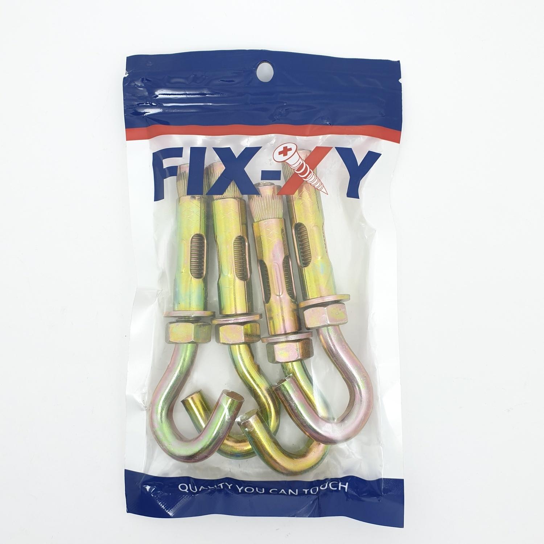 FIX-XY พุกตะขอเหล็ก M12 ( 4ชิ้น / แพ็ค ) EH - 008