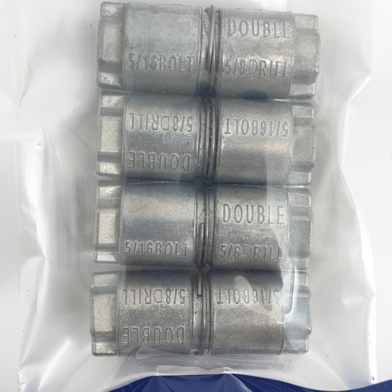 FIX-XY พุกตะกั่ว5/16 x 5/8 (4ชิ้น/แพ็ค) EG- 002 สีโครเมี่ยม