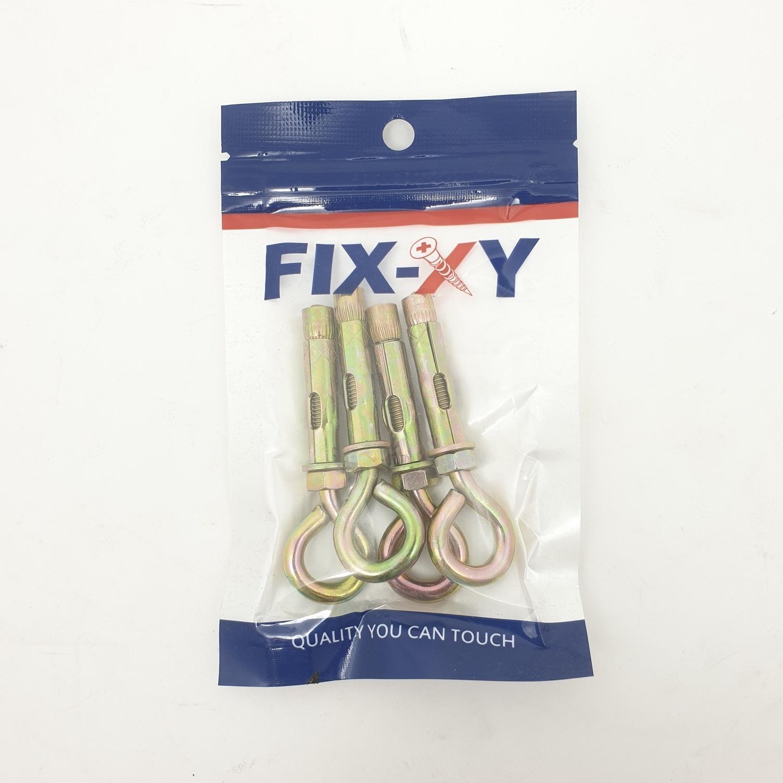 FIX-XY พุกเหล็กห่วงกลม m6 (4ชิ้น/แพ็ค) EH-001