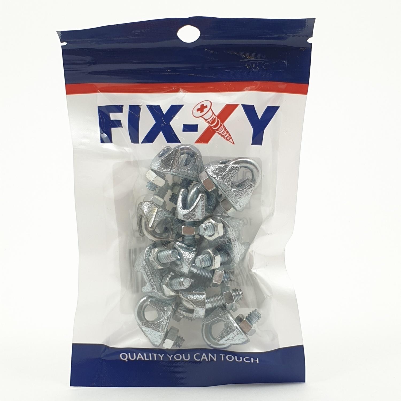 FIX-XY กิ๊ปจับลวดสลิง1/8'' EQ-001-S (10ชิ้น/แพ็ค)