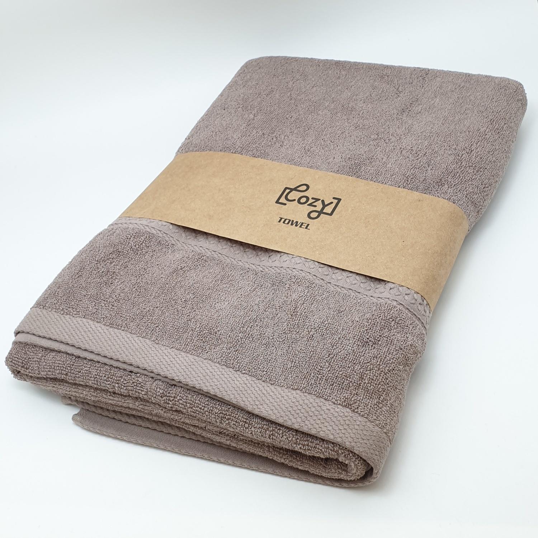 COZY ผ้าขนหนู 70x140 ซม. BQ007 BR สีน้ำตาล