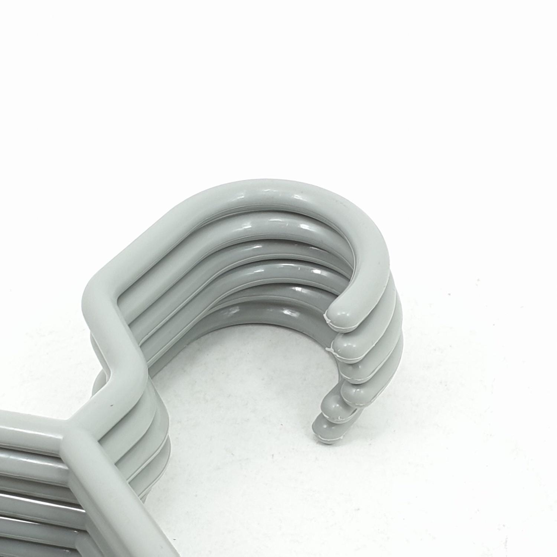 LUXUS ไม้แขวนผ้าพลาสติก EKK002-GR 6ชิ้น/แพ็ค สีเทา