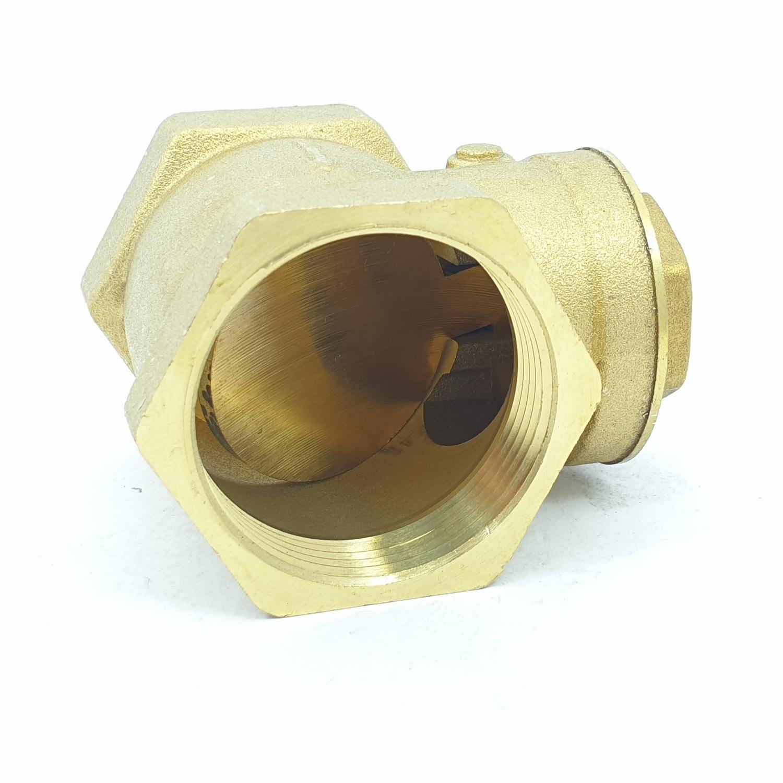 VAVO เช็ควาล์วสวิงทองเหลือง  1 1/2 นิ้ว  YF-4055  สีเหลือง