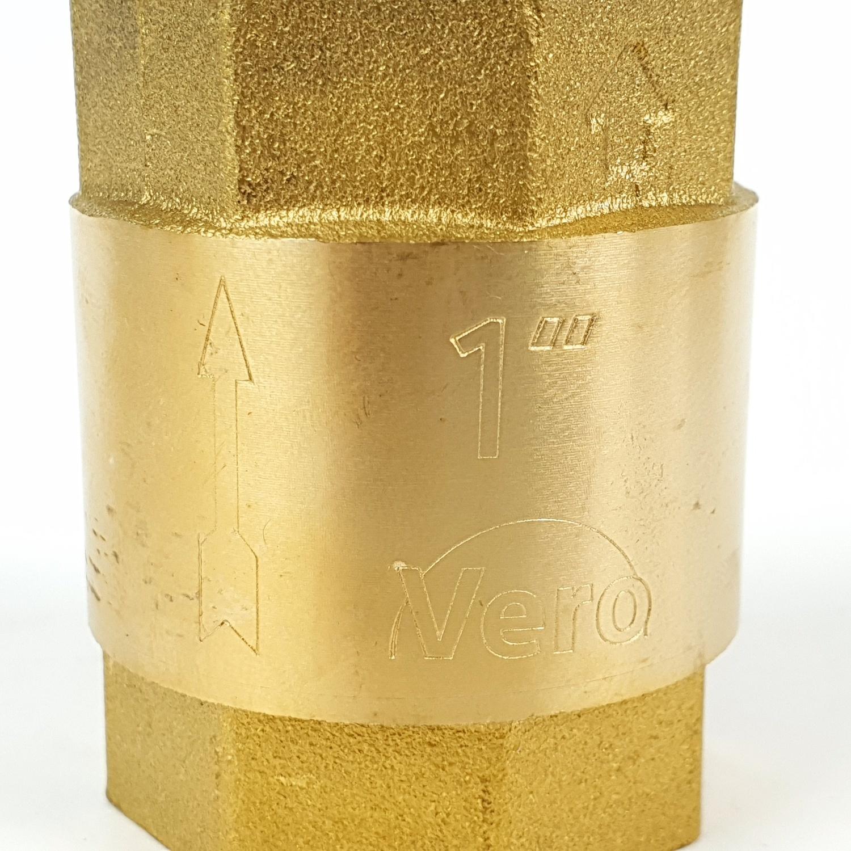 VAVO เช็ควาล์วสปริงทองเหลือง ขนาด 1 นิ้ว YF-4054-3  สีทอง