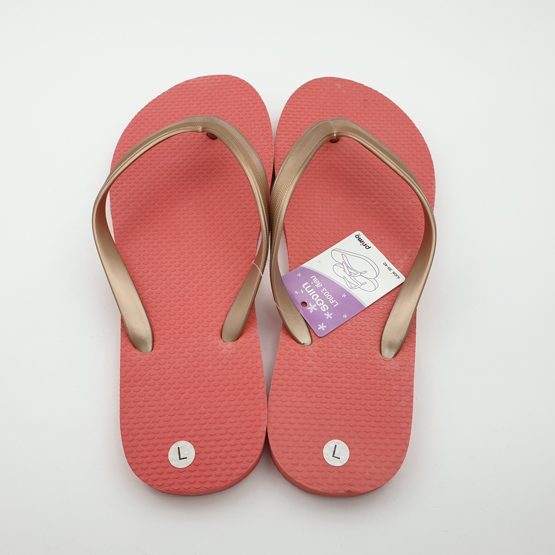 PRIMO รองเท้าแตะยางพารา  เบอร์ 39-40  LR003 สีส้ม