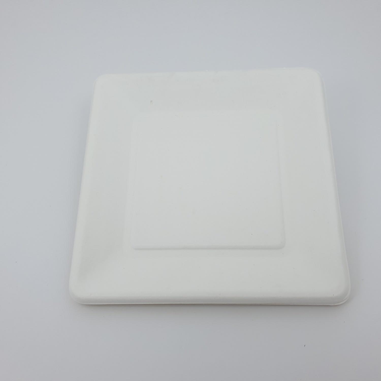 nibiru จานเหลี่ยม ขนาด6นิ้ว FJDB028 10ใบ/แพ็ค สีขาว