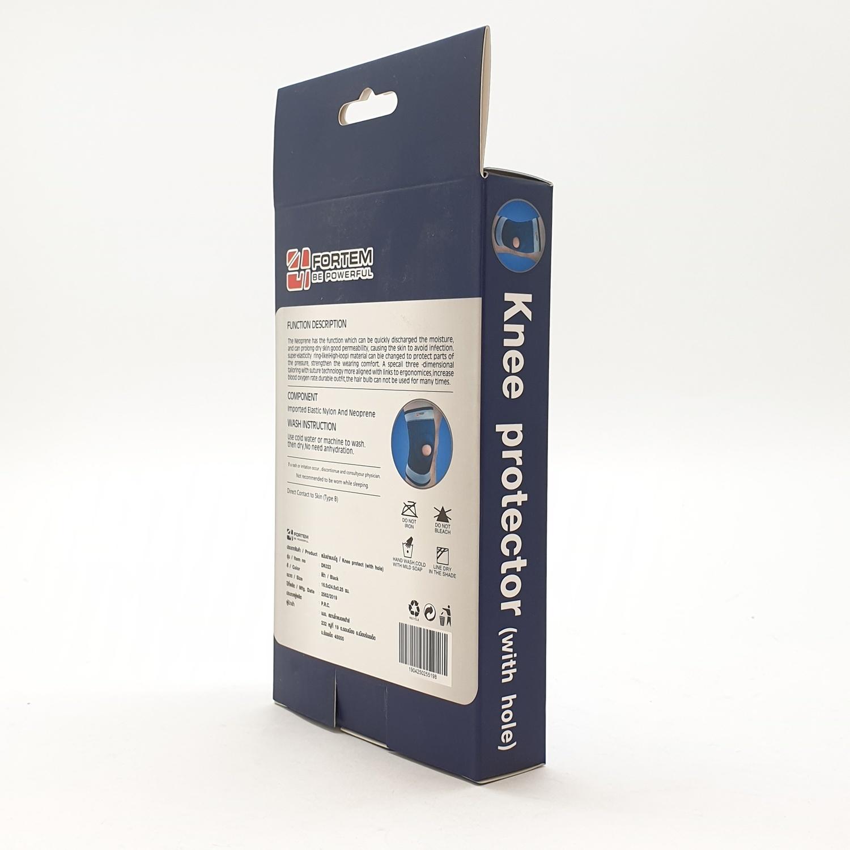 FORTEM สนับเข่าแบบมีรู  DK023 ขนาด 17x25x0.25 ซม.สีดำ.