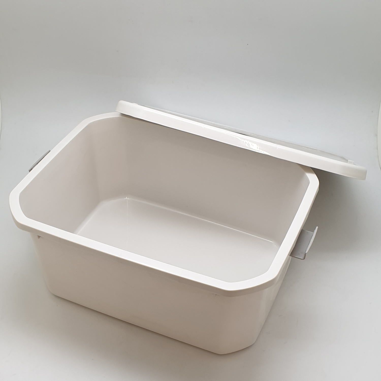 GOME กล่องเก็บของพลาสติกมีฝาปิด  ขนาด  25x32x14ซม.  SGY044  สีเทา