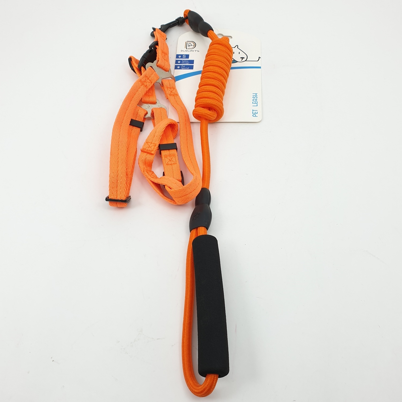 DUDUPETS สายจูงสัตว์เลี้ยง ไซส์ S  ขนาด 1.5x147x1.5ซม.  PT009S  สีส้ม