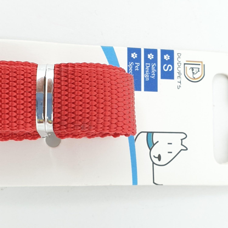 DUDUPETS สายจูงสัตว์เลี้ยง ไซส์  S ขนาด 1.5x120x0.2ซม.  PT018S  สีแดง