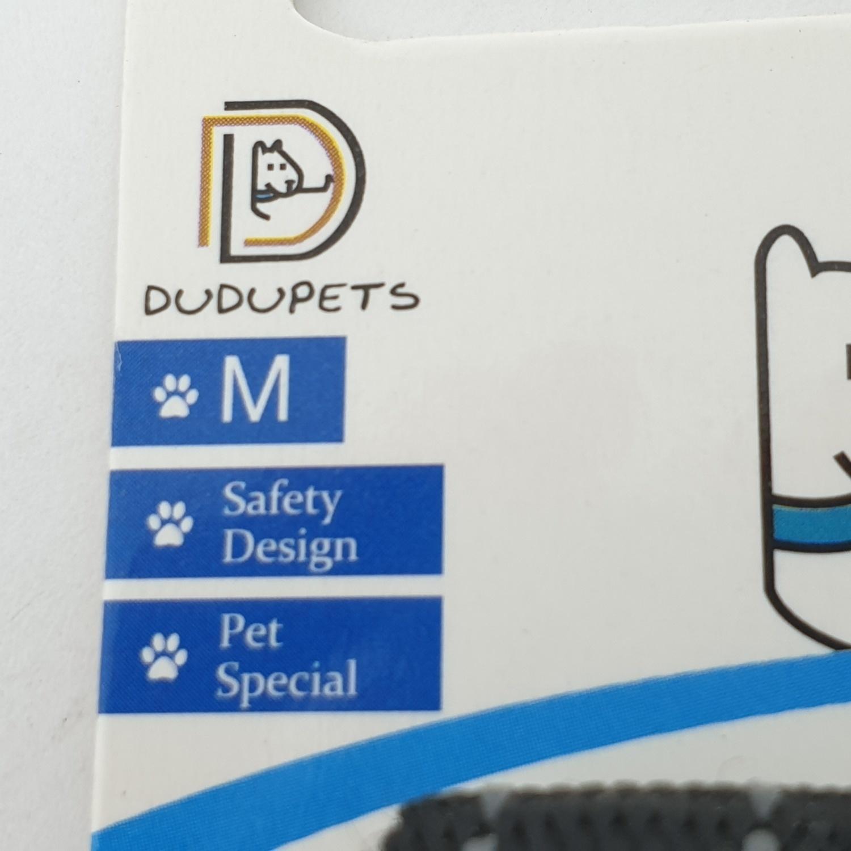 DUDUPETS ปลอกคอสัตว์เลี้ยงปรับได้ ไซส์ M  ขนาด 1.5x25x0.2ซม.  PT020M   สีดำ