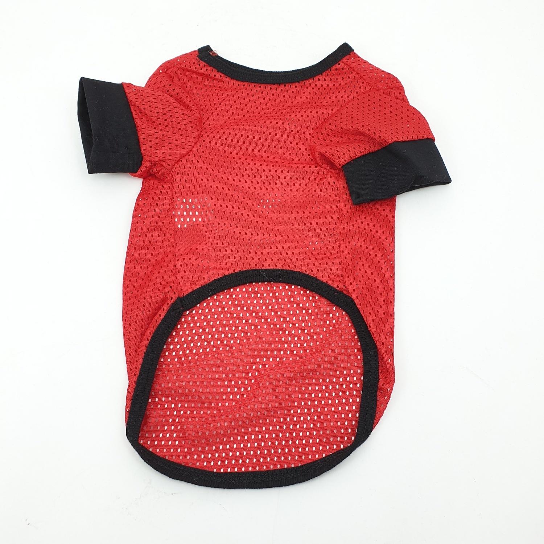 DUDUPETS เสื้อยืดสัตว์เลี้ยง  ไซส์M ขนาด 12นิ้ว CL001M สีแดง