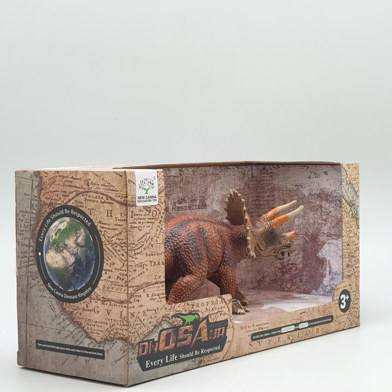 Sanook&Toys  ไดโนเสาร์ไทรเซราท็อปส์ (two colors optional)  X2052 สีน้ำตาลเข้ม