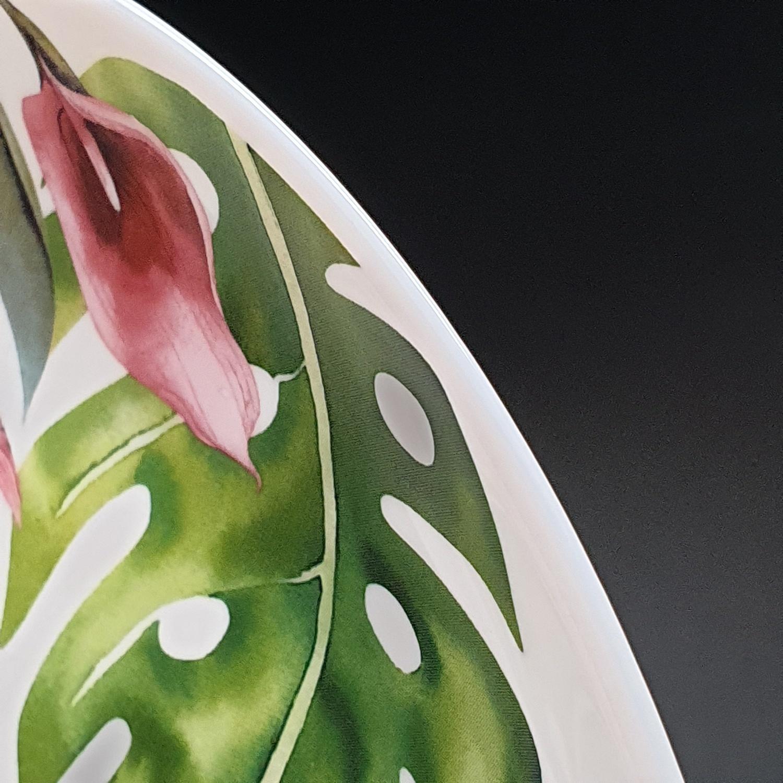 ADAMAS จานโอปอล ลายฟามิงโก้  9.5  FLAT PLATE QP95-2401