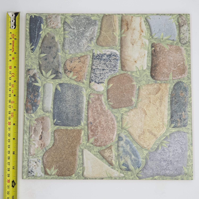 Marbella กระเบื้องปูพื้นหลังสวน-น้ำตาล ขนาด 12x12 SHQ3311 (17P) A. สีเทา