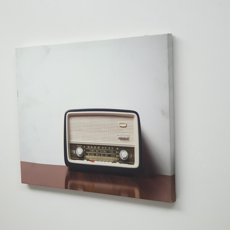 NICE รูปภาพพิมพ์ผ้าใบ LoftVintage ขนาด 50x40ซม. (ก.xส.) (วิทยุ วินเทรด) C5040-9