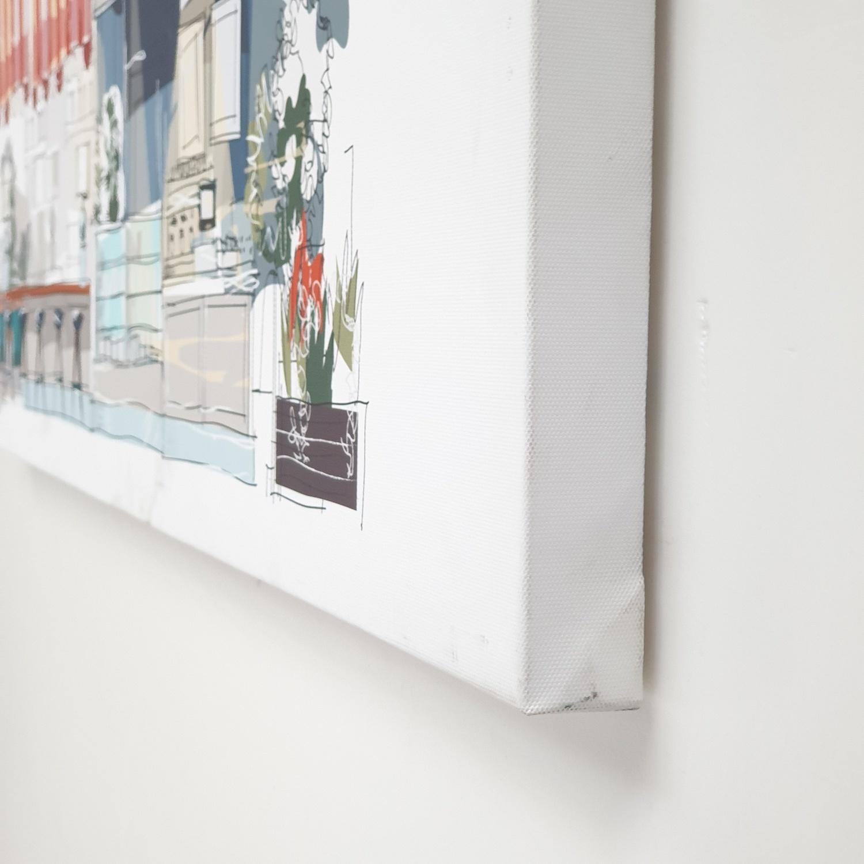 NICE รูปภาพพิมพ์ผ้าใบ Restaurant ขนาด 94x36ซม. (ก.xส.) ( CAFE PARIS) C9436-6