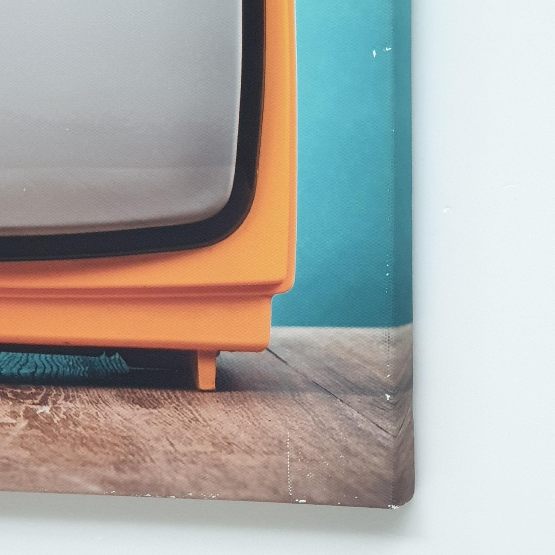 NICE รูปภาพพิมพ์ผ้าใบ LoftVintage ขนาด 50x40ซม. (ก.xส.) (โทรทัศน์ วินเทรดสีส้ม) C5040-8