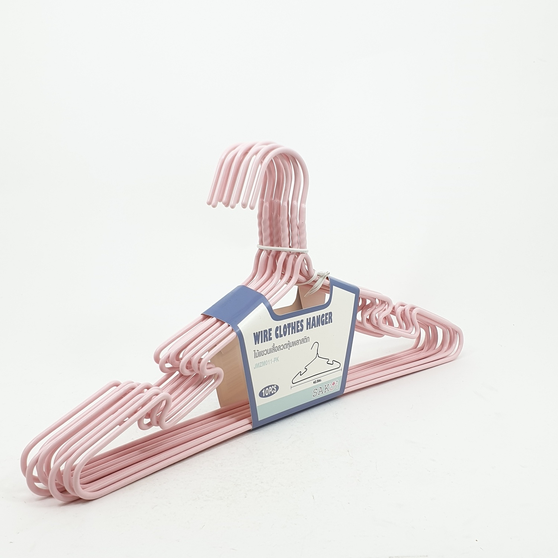 SAKU ไม้แขนเสื้อลวดหุ้มพลาสติก JMZM011-PK สีชมพู