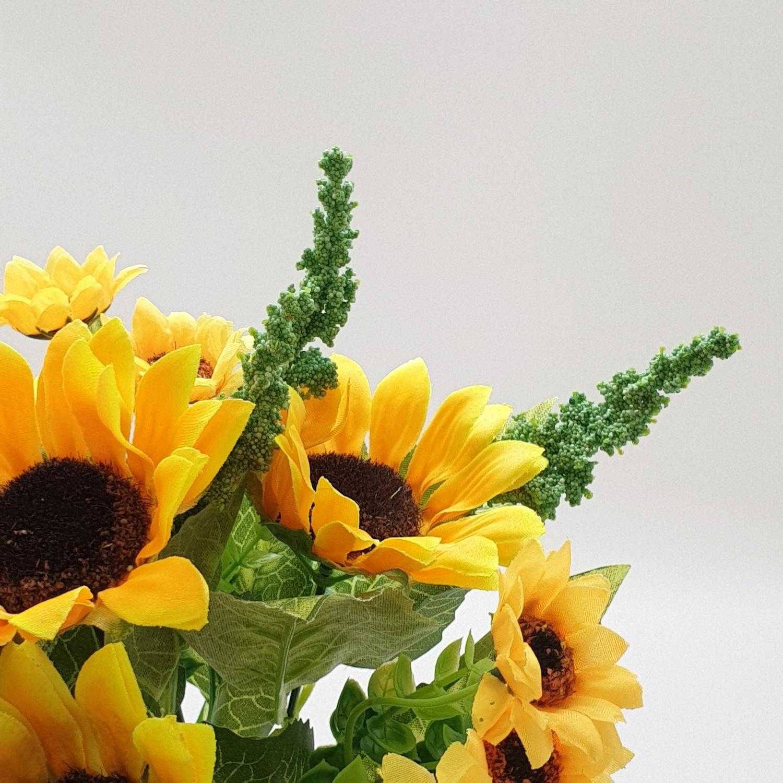 Tree O ดอกไม้ประดิษฐ์ตกแต่ง LL-022 สีเหลือง