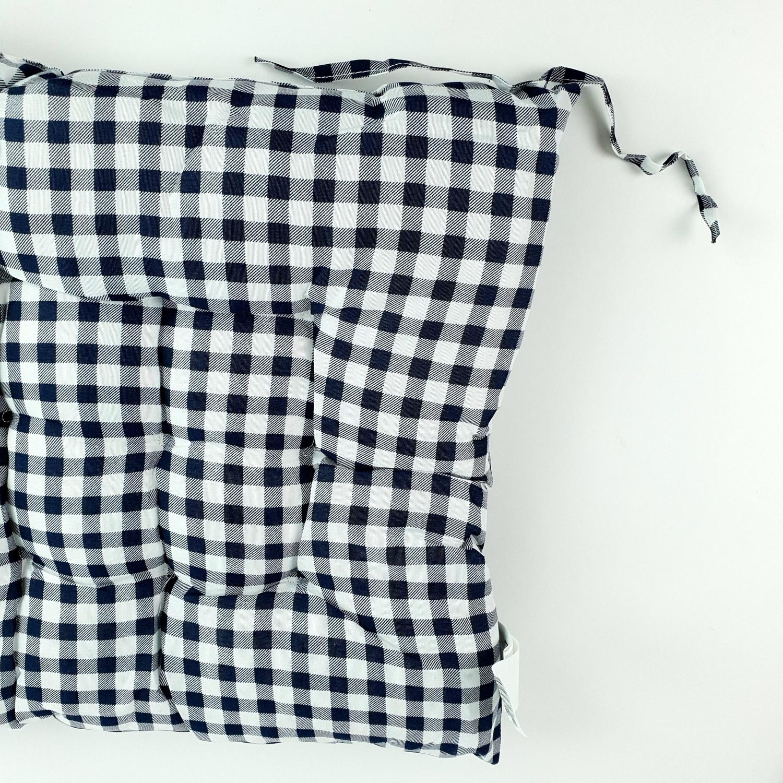COZY เบาะรองนั่งสี่เหลี่ยม ขนาด40×40×5ซม. CX01 สีน้ำเงินเข้ม
