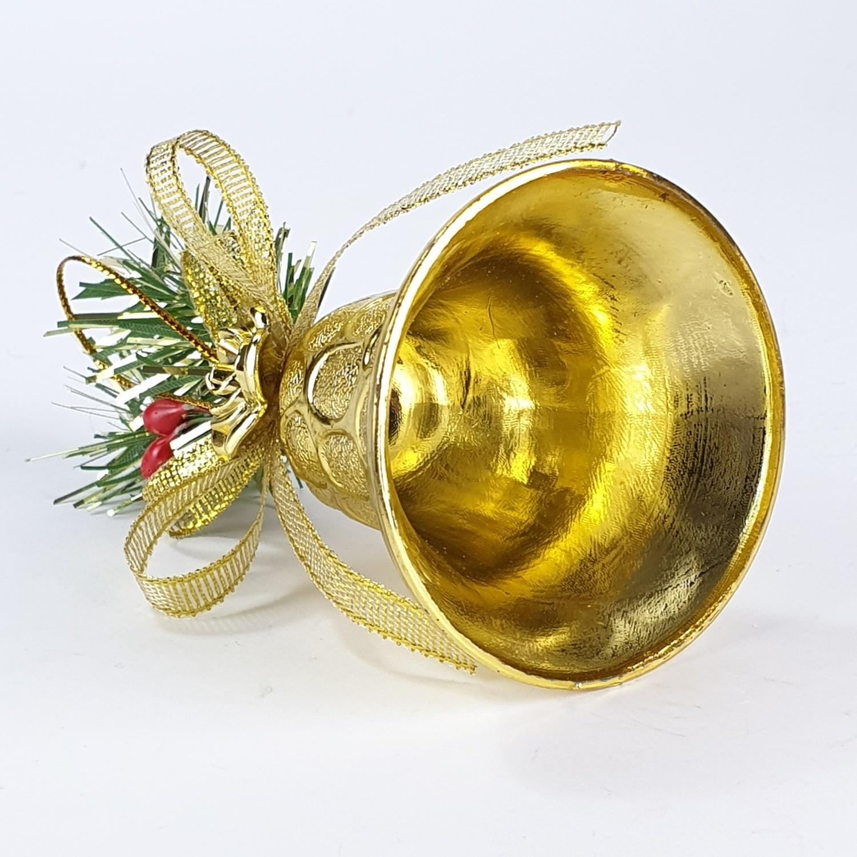COZY กระดิ่งตกแต่งต้นคริสต์มาส 4 ชิ้น/แพ็ค ขนาด  5x5x8.5ซม. LD-18240