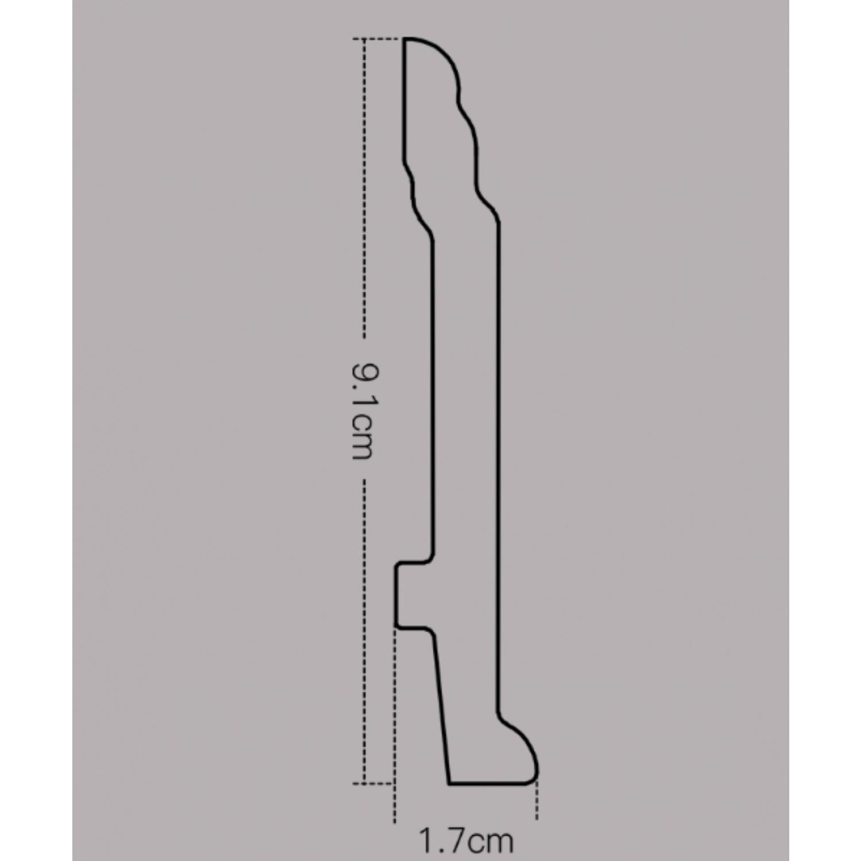 GREAT WOOD บัวพื้น สีวอลนัทเข้ม  ขนาด 89x11.5x2900mm.  JC192-5