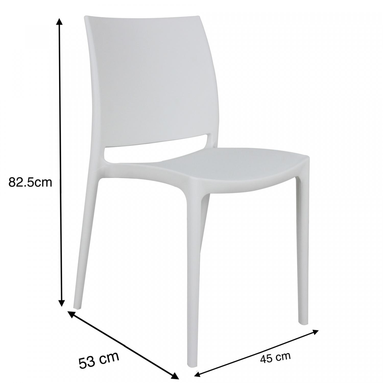 Pulito เก้าอี้พลาสติก ขนาด 53x45x82.5ซม. PP-686-W02 สีขาว