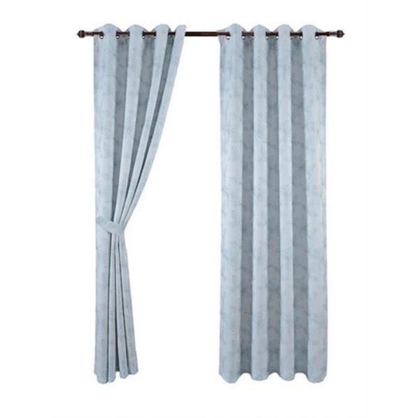 Davinci ผ้าม่านหน้าต่าง ขนาด 150x160 ซม.  DM-JC197-4W สีฟ้า