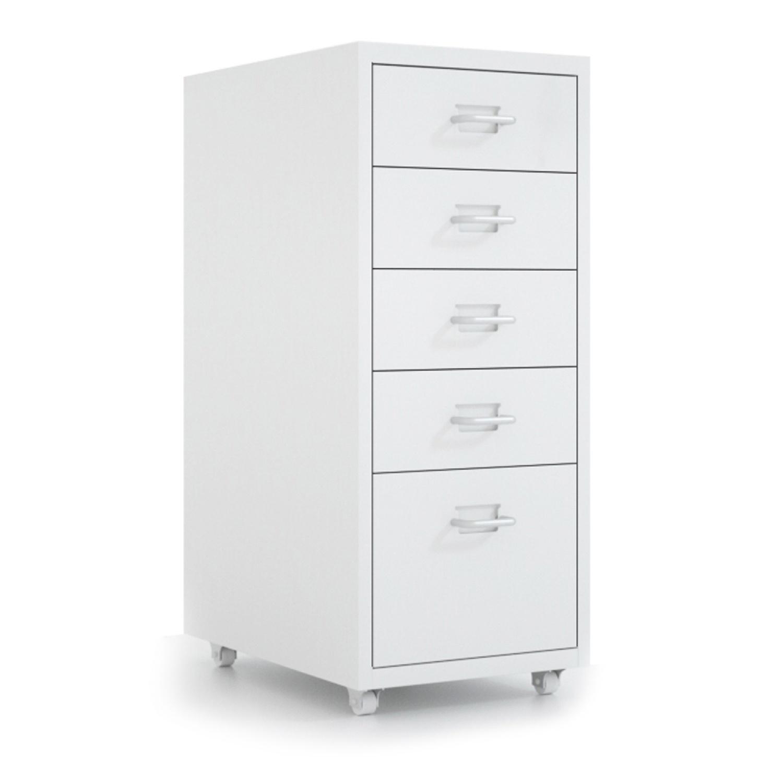 SMITH ตู้ลิ้นชักเหล็ก 5 ชั้น ขนาด 28x41x69ซม. OKD-5D สีขาว