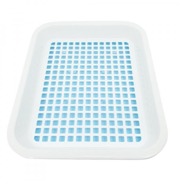 GOME ตะกร้าล้างผัก ผลไม้ ขนาด 27.50x34x5 ซม. สีฟ้า-ขาว DYS001