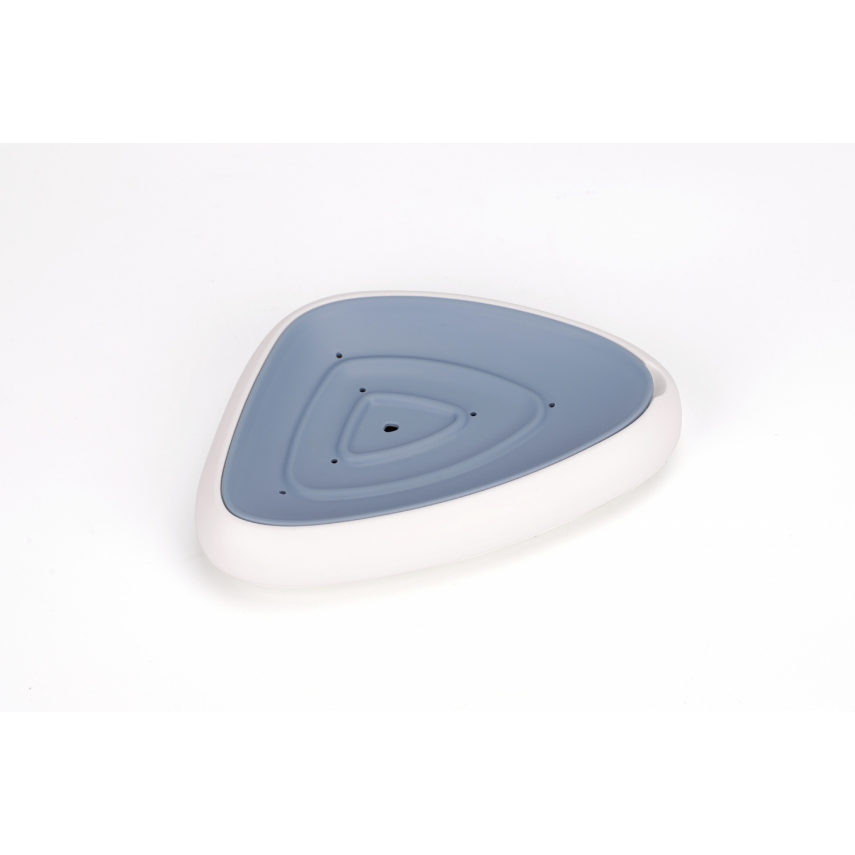 KOJI ที่วางสบู่ทรงสามเหลี่ยม ขนาด 13x14.5x2.8 cm. 2SNJ047-BU  สีน้ำเงิน