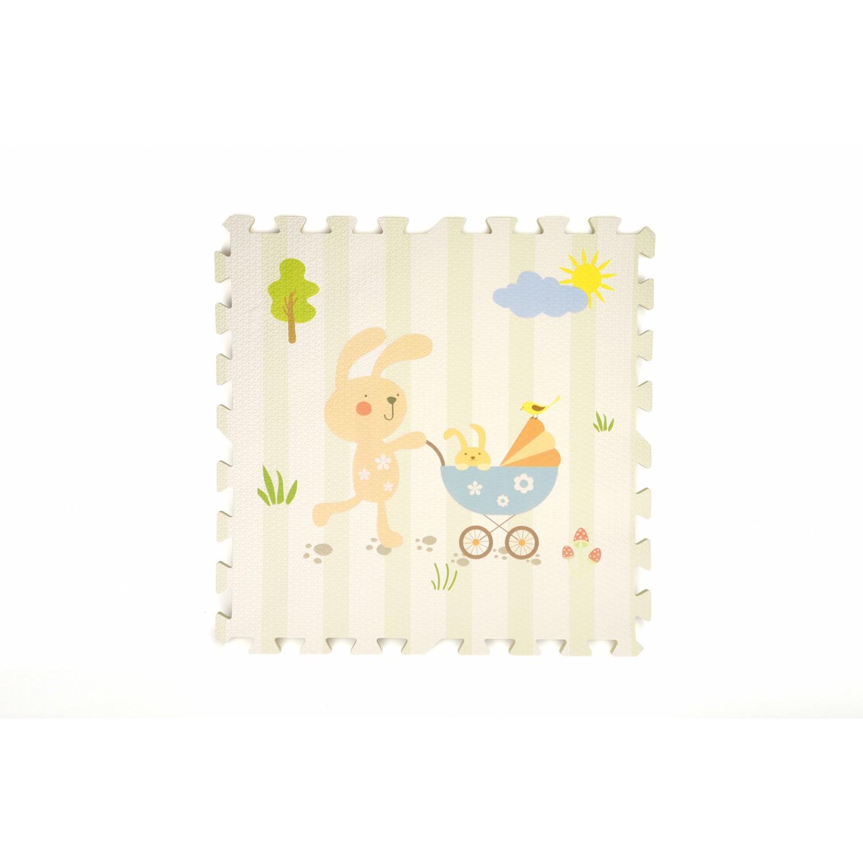 NINO WORLD ชุดแผ่นปูพื้นจิ๊กซอว์ (4 แผ่น) ขนาด 60x60x1.2 cm. รูปสัตว์ 4TLX006