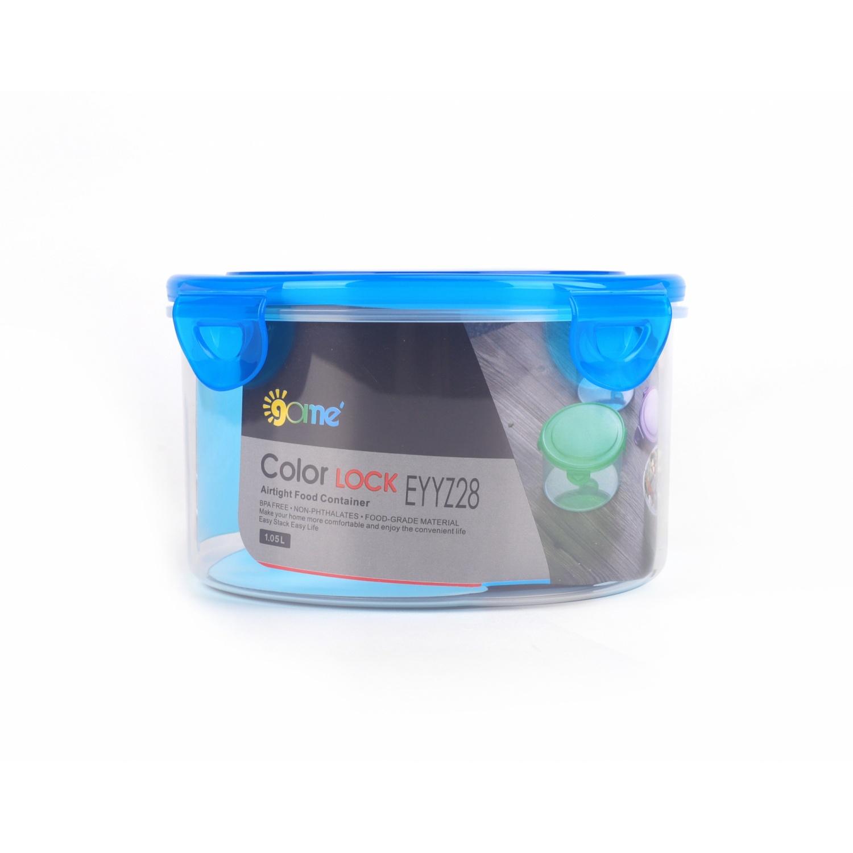 GOME กล่องถนอมอาหารพลาสติกทรงกลม  820ML  EYYZ28 สีฟ้า