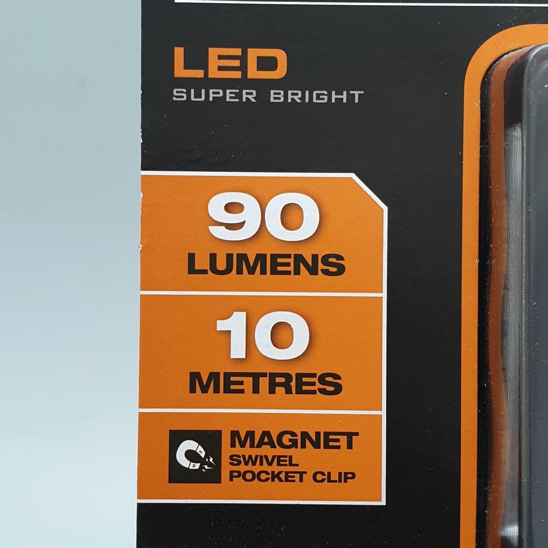 - Portable flashlight E101004  16.5x1.9x3.2  EVERBRITE E101004 สีส้ม
