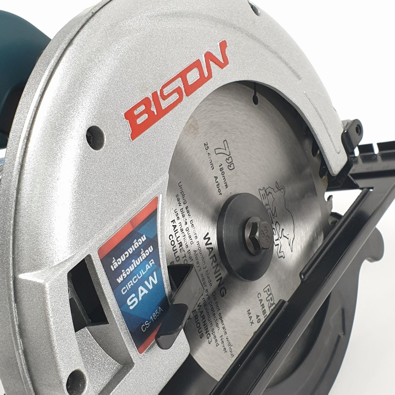 BISON เลื่อยวงเดือน 7 นิ้ว  พร้อม ใบตัด CS-185A  สีน้ำเงิน