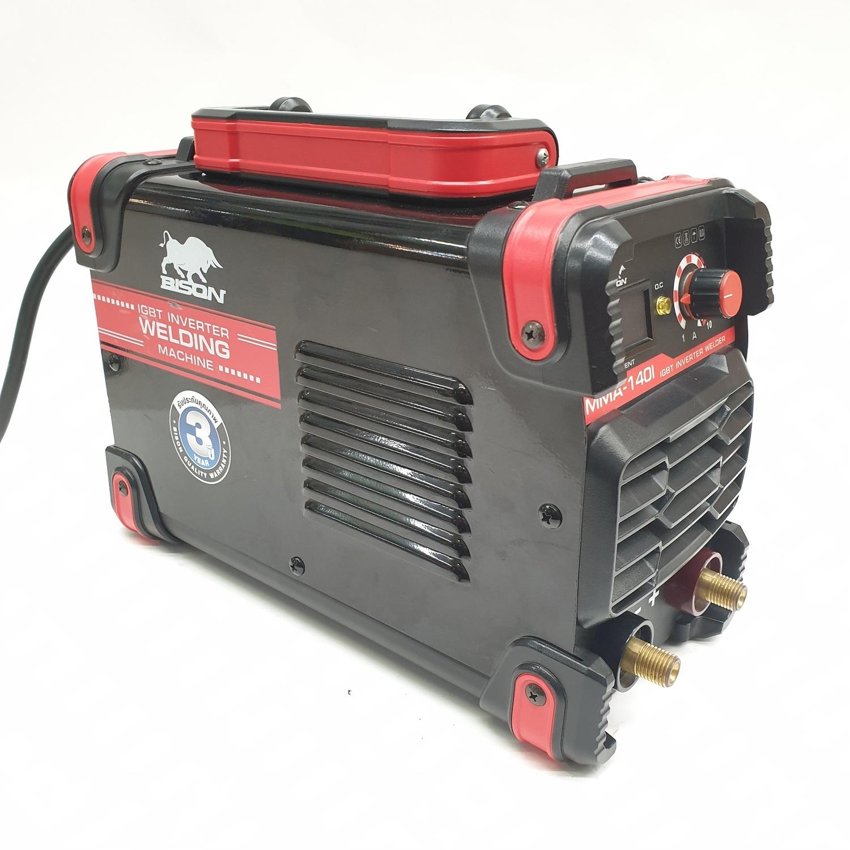 BISON ตู้เชื่อม IGBT 140A MMA-140I  สีแดง-ดำ